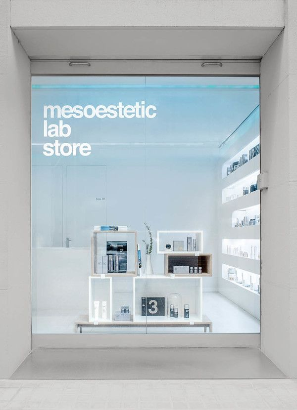 mesoestetic lab store by INTSIGHT, via Behance