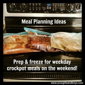 Start prepping and freezing Crockpot meals on the weekend! Trust me, it makes the week so much easier.