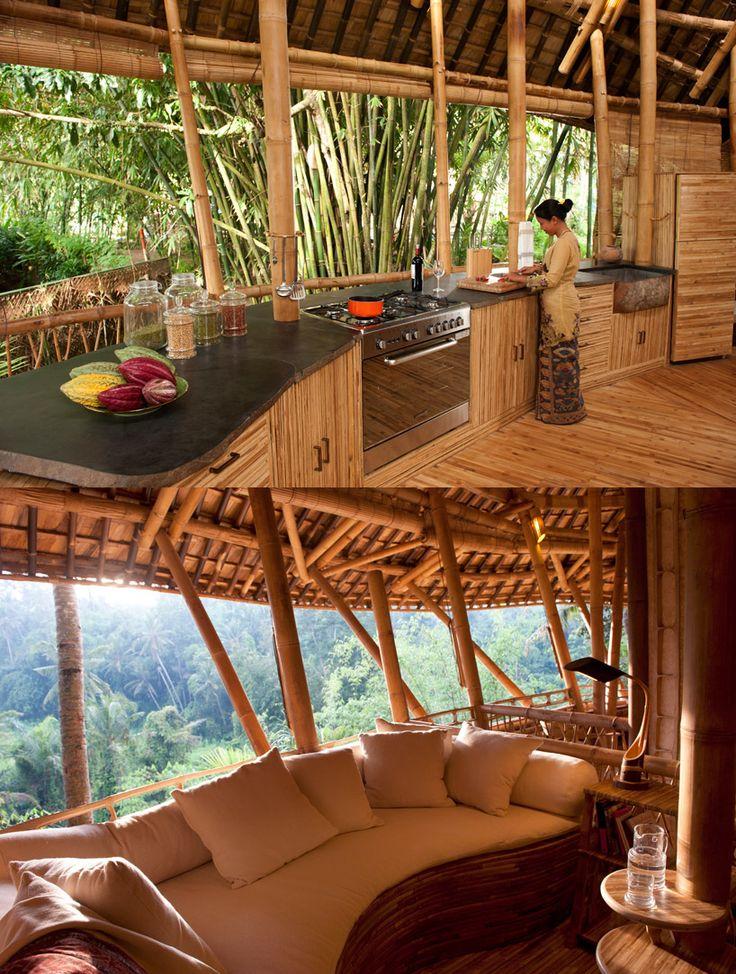 bamboo houses shape ibuku's green village community in indonesia