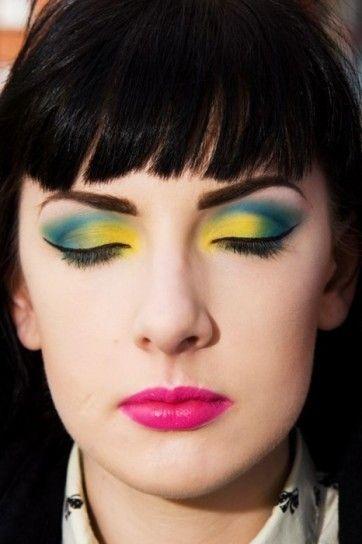 maquillaje de los 80