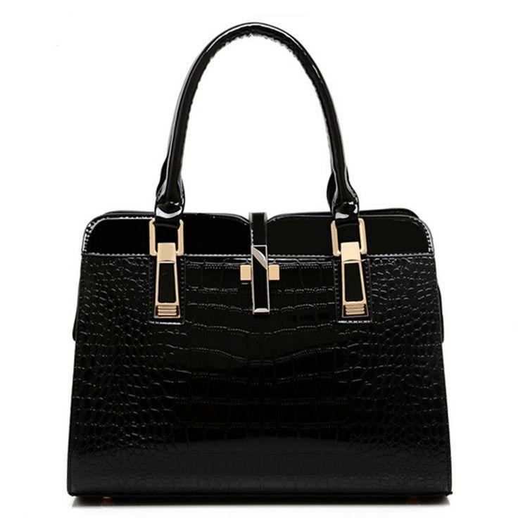 Goedkope Effen vrouwelijke pakket Mode sfeer vrouwen BAKKEN Tas Hoge kwaliteit zakelijke tas krokodil…