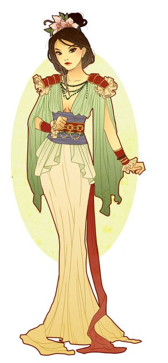 Art Nouveau Mulan                                                                                                                                                      More
