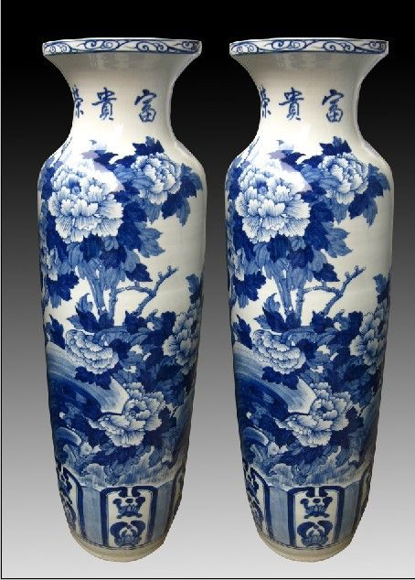Tall Blue And White Vase Droughtrelief