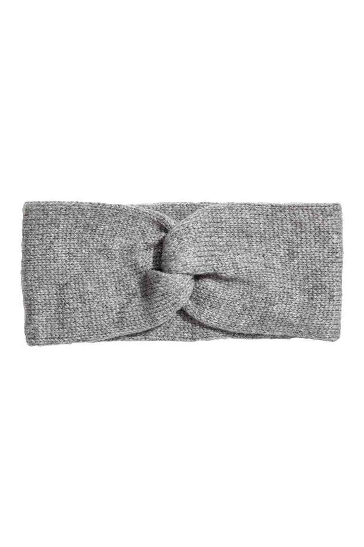Kötött hajpánt - Szürke melír - NŐI | H&M HU 1