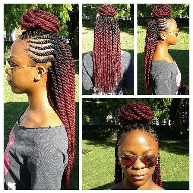 Hair: #cubantwist . Style: medium #ghanabraids with med #havanatwists . #protectivestyles #styleseat #miamistylist #miamibraids #transitioninghair #voiceofhair #hair2mesmerize #braidsgang