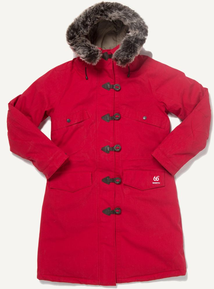 Ladies' parka with artificial fur - Snaefell - 66°NORTH
