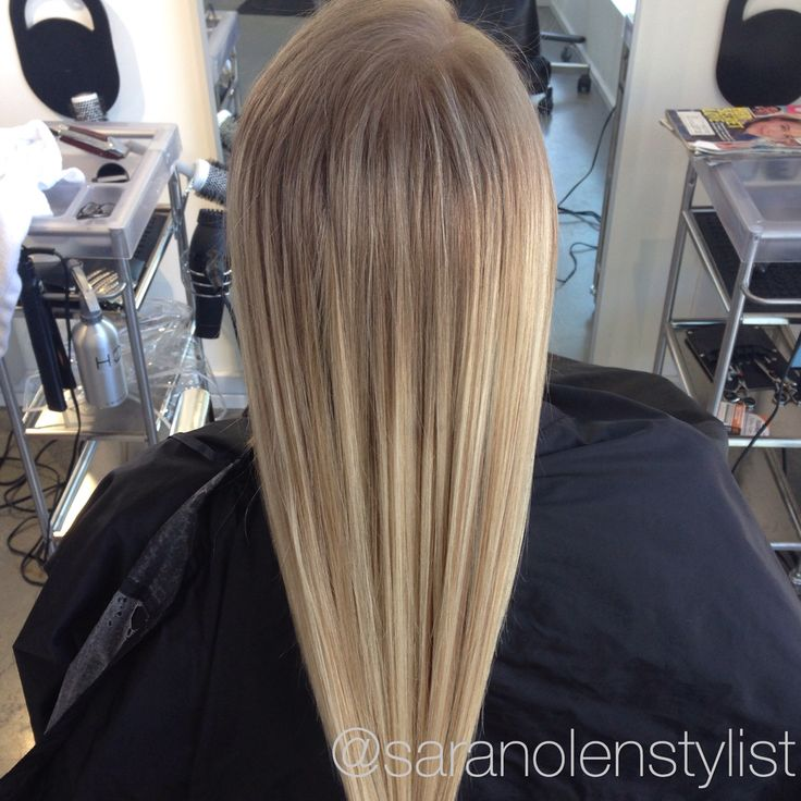 Blonde with darker root/ombré/balayage - Sara Nolen at ...