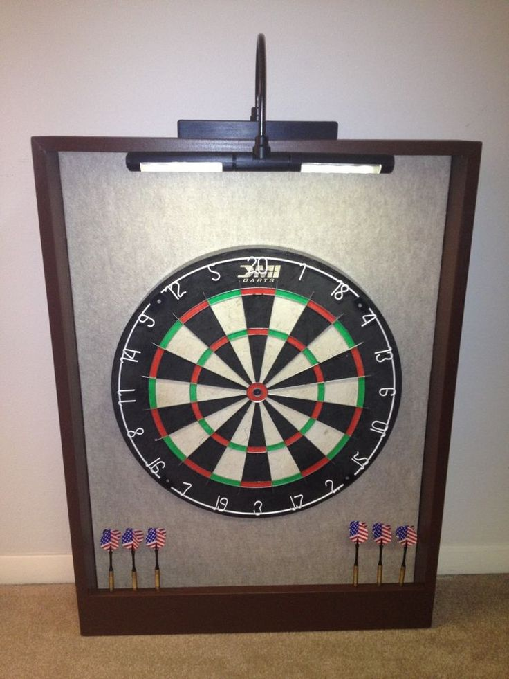Led Lighted Dartboard Backboard Cabinet Dmi Bristle Dart Board Sandstone Brown