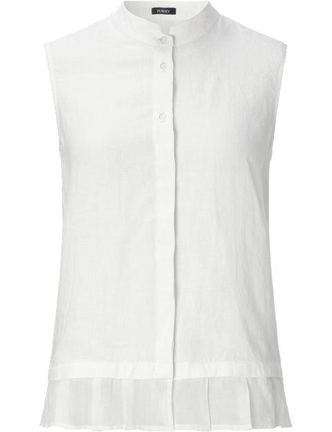 Purdey mouwloze linnen blouse wit