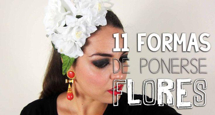 11 formas de ponerse las flores de flamenca -
