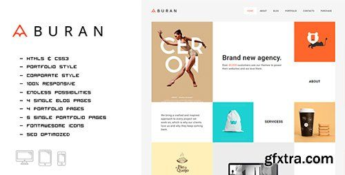ThemeForest - Buran - Smart Portfolio and Business HTML Template - RIP
