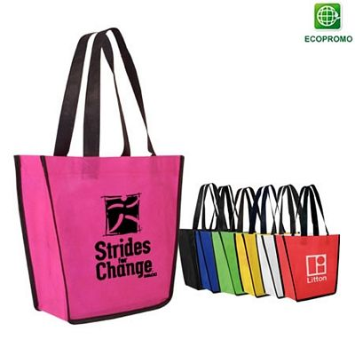 Great Pink Non-Woven Bag to Show Awareness this Month! Promotional Non-Woven Fiesta Tote Bag | Customized Tote Bags | Promotional Tote Bags