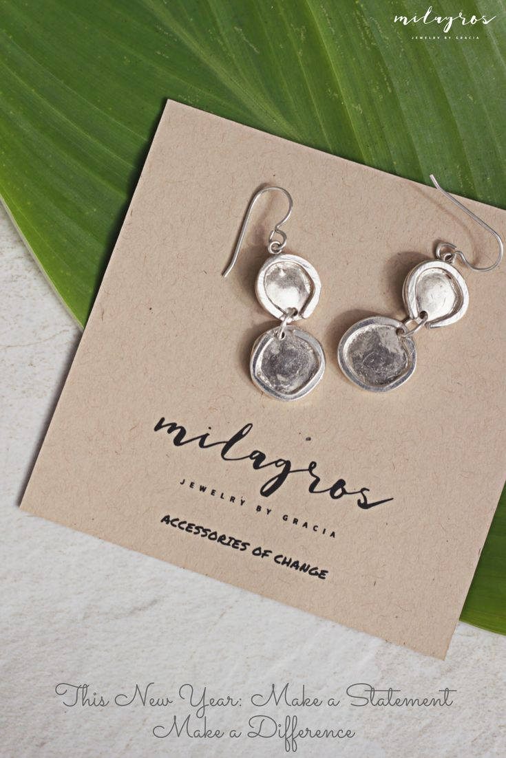 $125 Narlin Earrings Figure Eight's for 2018! Start your New Year off with a purchase that makes a difference. All proceeds go to benefit the young women at Marta y Maria, Casa Hogar, in Jalapa, Guatemala. #MilagrosJewelry #newyears #2018 #accessoriesofchange #jewelry #sterlingsilver #handmade #fairtrade #gifts #celebrate #guatemala