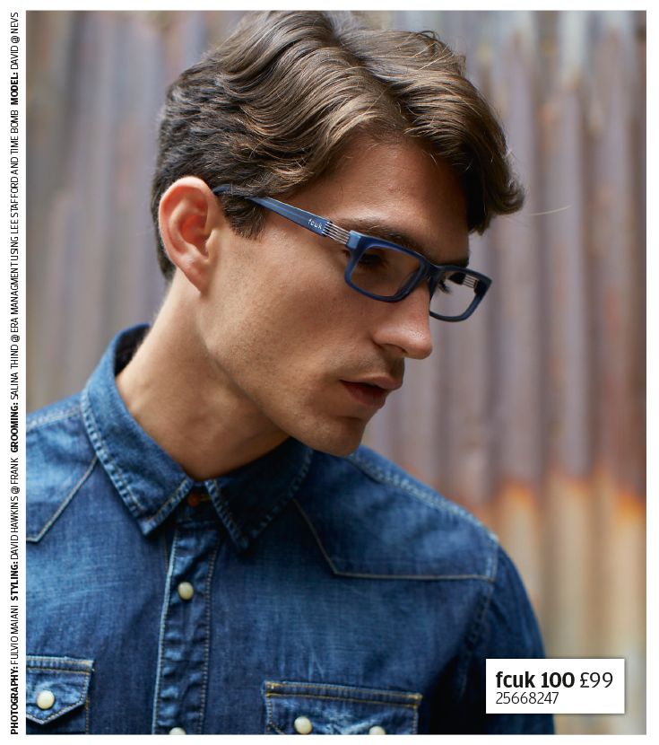 Denim dreams - pair denim with on-trend blue specs and embrace your inner star
