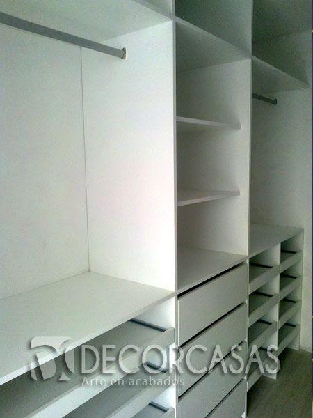 Walking closet, multifunctional. Zapateros, cajones, plataformas y  colgadores.