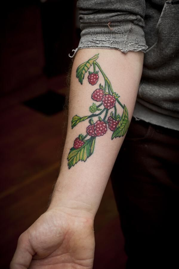 Cute idea, I'd get blackberries to remind me of picking them in the summers with my dad