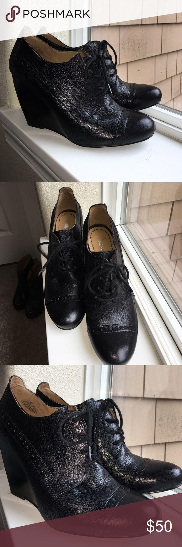 Selling this Nine West Leather Brogue Booties Sz. 9 Trendy! on Poshmark! My username is: gloris_grimm. #shopmycloset #poshmark #fashion #shopping #style #forsale #Nine West #Shoes