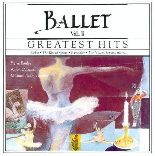1990 Ballet Greatest Hits Vol. II (CBS Masterworks) [CBS MLK45659 / 074644565928] cover illustration by Michael Ng #albumcover