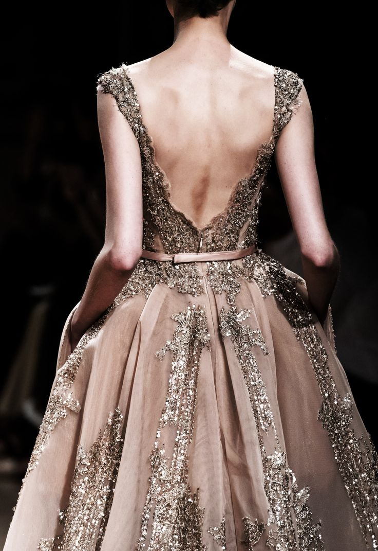 Low Back: Ziad Najad Haute Couture Fall/Winter 2016-17. ""