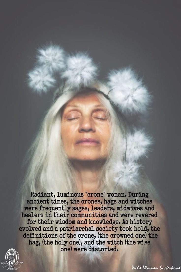 "∆ A Way of the Wise... Radiant, luminous ""crone"" woman. During ancient times, the crones, hags and…"