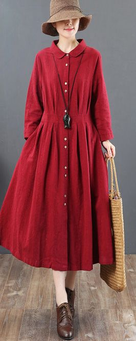 41b6ca0075 boutique-burgundy-linen-maxi-dress-plus-size-lapel-collar-linen-clothing- dresses