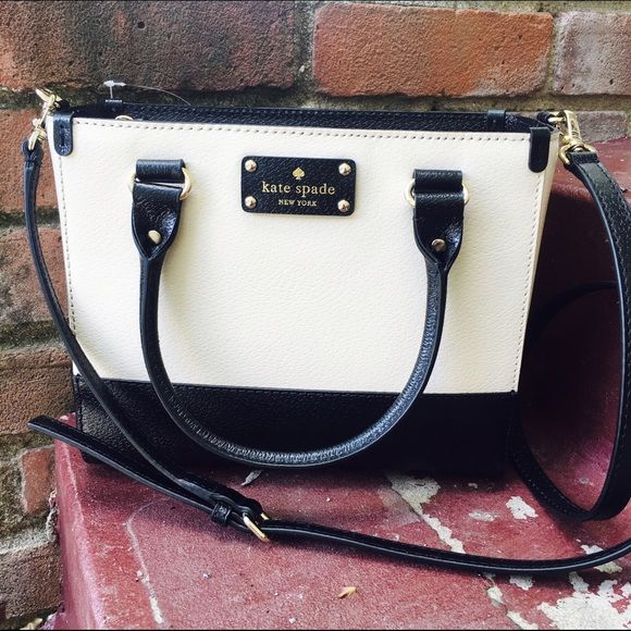 Black White Kate Spade Purse Brand New With Tags Ships Immediately Bags My Posh Closet Pinterest Purses And