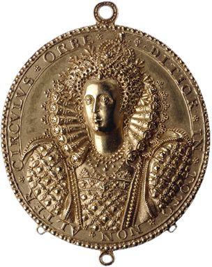 Gold medal of Elizabeth I  c. 1580–1590.