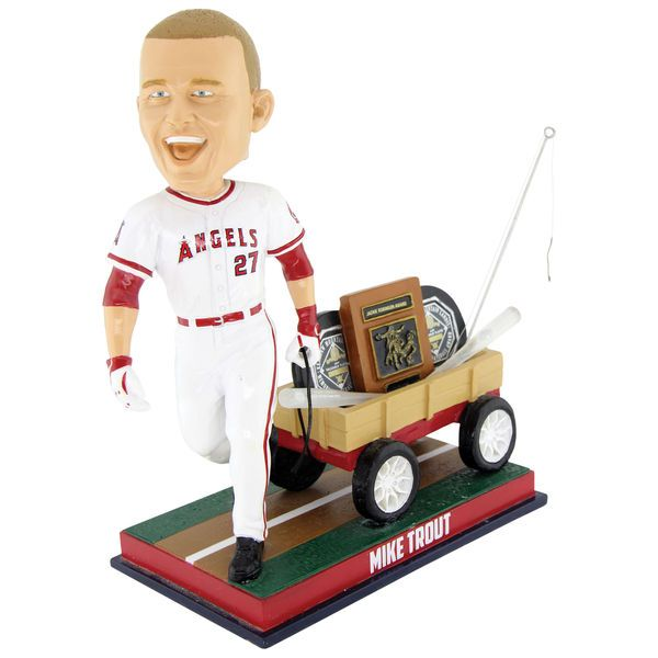 Mike Trout Los Angeles Angels Wagon Bobblehead (Lucas)