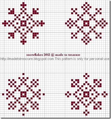 cross stitch snowflakes 2012