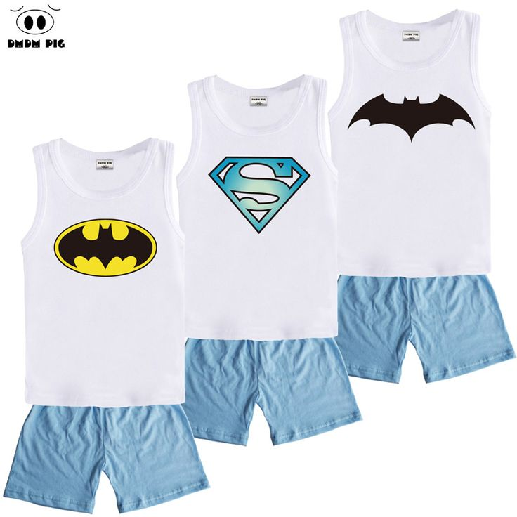 DMDM PIG Spiderman Baby Clothes Sets Batman Childen's Sports Suits For Boys Clothes Summer Kids Clothes Sets Girls Clothing Sets