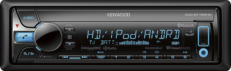 Kenwood - CD - Built-In Bluetooth - Built-In HD Radio - Apple® iPod®- and Satellite Radio-Ready - In-Dash Deck - Black