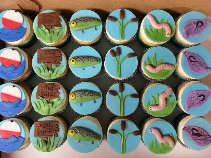 Image result for fishing cupcakes