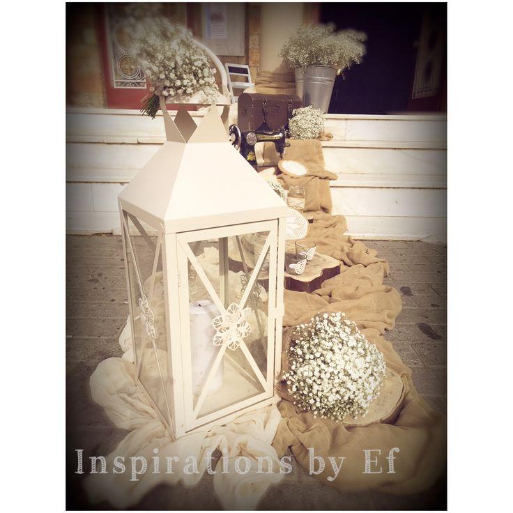 Vintage στολισμός γάμου..λινάτσα, δαντέλα, βελονάκι, πέρλες...ιβουάρ...vintage αντικείμενα... Vintage Wedding Decorations...decoration details...Wooden details...Κορμοί...