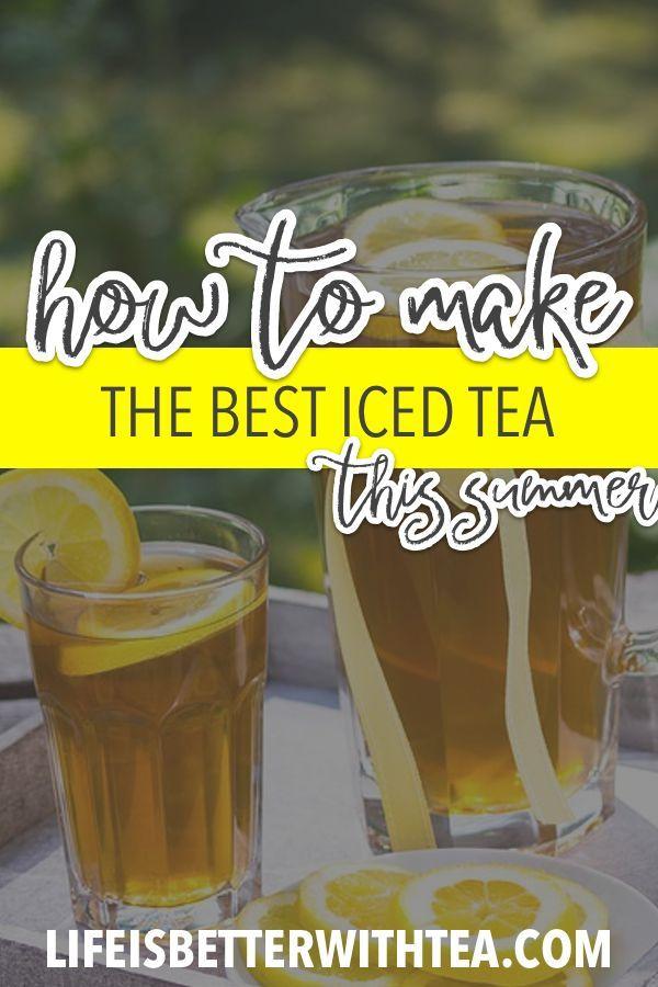 Traditional Iced Tea Recipe Iced Tea Brewing Tea Making Iced Tea