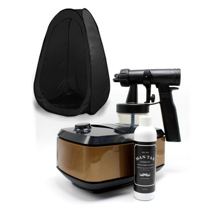 At Home Spray Tan Kit! Do-it-yourself & save! Easy application, specially formulated Man Tan Co. solution included! SHOP NOW!