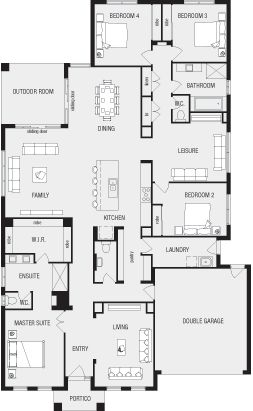 Lincoln, New Home Floor Plans, Interactive House Plans - Metricon Homes - Melbourne
