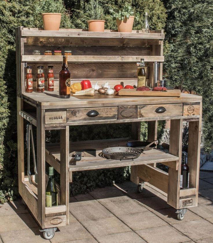 Grilltisch aus Palettengrill Tisch aus Europaletten Palettenmöbel – DIY Pallets