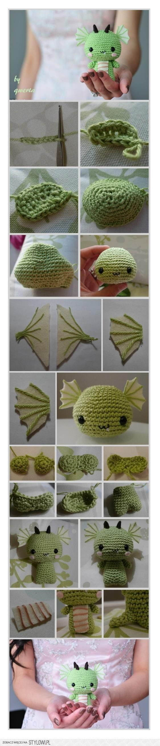 Crochet dragon.... Wonder if I could make a toothless
