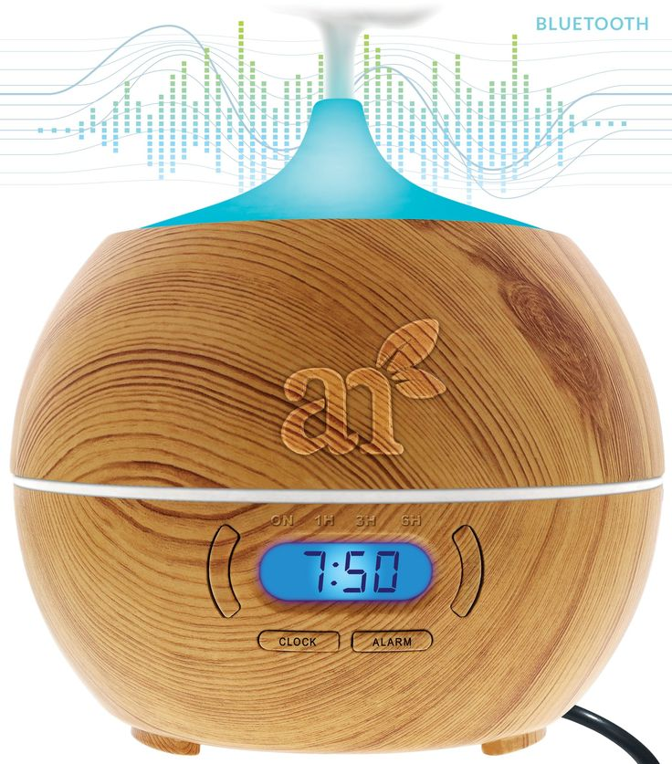 Amazon.com: ArtNaturals Essential Oil Diffuser and Humidifier - 400ml with Bluetooth Speaker Clock & Alarm - Electric Cool Mist Aromatherapy for Office Home Bedroom Baby Room Study Yoga Spa - 7 Color LED Lights: Health & Personal Care | @giftryapp