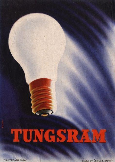 Tungsram lightbulbs ~ Káldor László