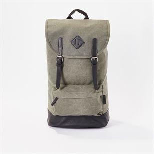 8MM. Canvas backpack, Green Dark, medium