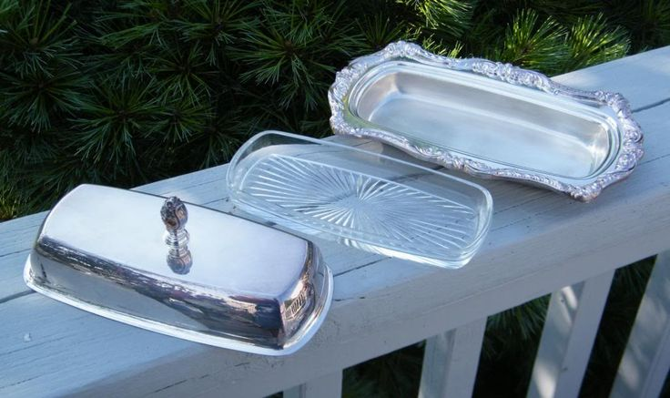 victorian butter dish | ... VICTORIAN POOLE SILVER OLD ENGLISH COVERED BUTTER DISH GLASS INSERT
