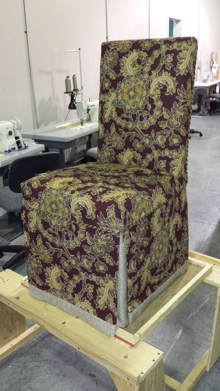 Custom Parsons Chair Slipcover.