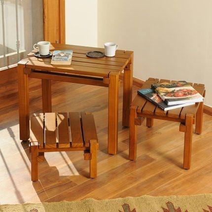 Quetzel Bandy Stools | Made of Southern Yellow Pine Wood | #furniture | www.zansaar.com