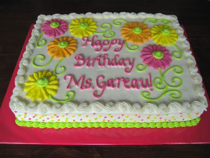 I made this for my son's teacher's birthday and decided to go with all Buttercream so there wouldn't be any fighting over the...