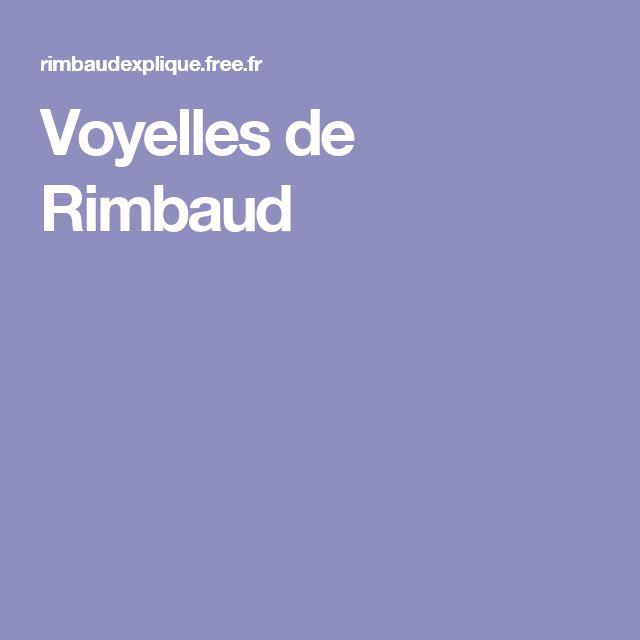 Voyelles de Rimbaud