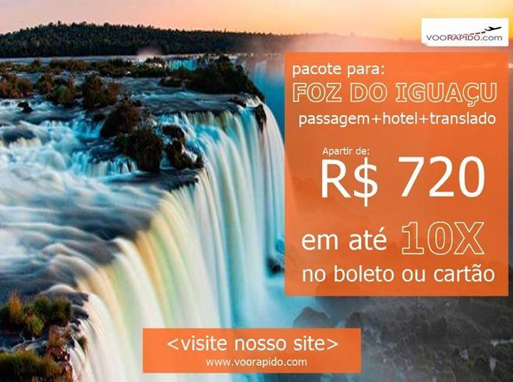 Foz do Iguaçu é um dos destinos mais procurados por turistas de todas as partes por um simples motivo: possui riquezas naturais únicas e deslumbrantes. Com toda sua diversidade e as impressionantes Cataratas do Iguaçu eleita como uma das 7 Maravilhas da Natureza representa um dos mais belos destinos turísticos do planeta tombado pela Unesco como Patrimônio da Humanidade.  VIAJE 4 DIAS PARA FOZ DO IGUAÇU COM CATARATAS BRASILEIRAS  ITAIPÚ Passagem hotel traslados e passeio inclusos no pacote…
