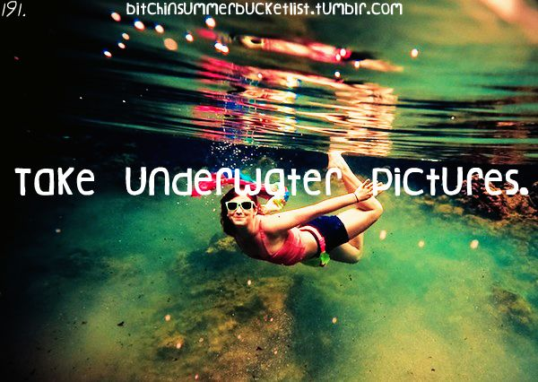 I've already done a lot of these on holiday(s), but I 100% want to do professional underwater shoots!