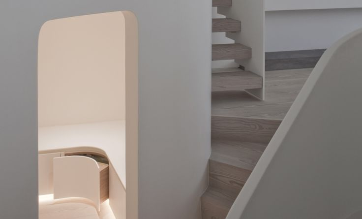 Corian® doors in storage antechamber by Jack Trench Ltd http://www.cdukltd.co.uk/