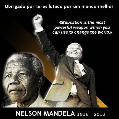 Thank You Madiba for your Example  Nelson Mandela. Grande Homem. Enorme exemplo. Obrigado por teres lutado pela Liberdade e pela Igualdade.  RIP Nelson Mandela